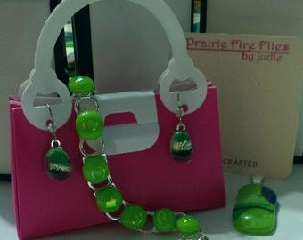 Glass Link Bracelet