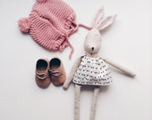 Nela handmade rag doll bunny doll ( you can select her clothes)