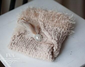 Newborn diaper cover + headband