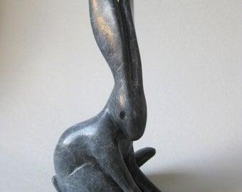 "Bronze Arctic Hare 'contemplation"""