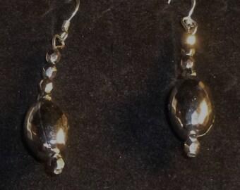 REDUCED-Silver Bead Ear Rings