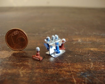 dollhouse Miniature Support for stamps silver color  1/12 scale