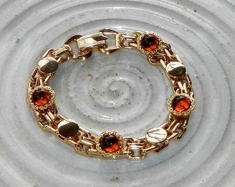 Vintage Golden and Amber Bracelet