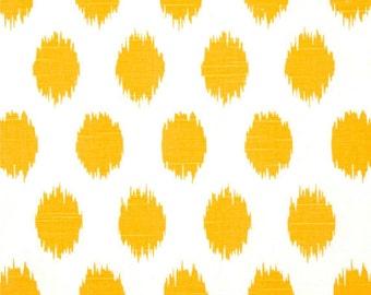 "Two  96"" x 50""  Custom   Curtain Panels -  Jo Jo Slub - Yellow -  Bedskirt and Shams Available"