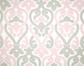 "Two 96"" x50""  Custom Curtain Panels - Alex - Bella  Pink/Grey  -  NEW"