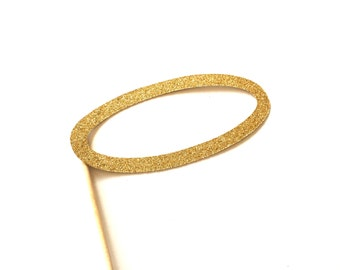 Photo Booth Props - Angel Halo - Gold Glitter Prop - Birthdays, Weddings, Parties, Holidays - Photobooth Props