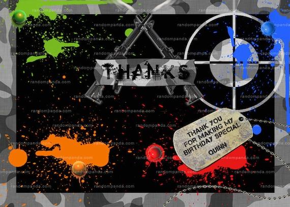 paintball invitation guns combat and camo paintball party, Birthday invitations