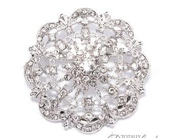 1pc Brooch Embellishments Bouquet Supplies, DIY Wedding Cake Decoration Wedding Crafts Fancy Wedding Crystal Broach,  Brooch 412-S