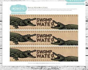 Reptiles & Amphibians Water Soda Drink Juice Bottle Labels - INSTANT DOWNLOAD
