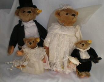 Steiff Bears Wedding Procession - Mint In Box - Reduced