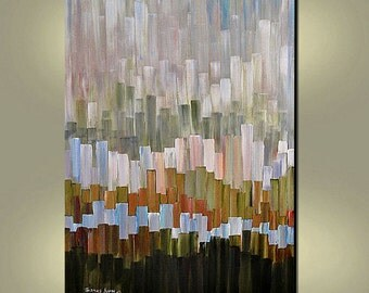ORIGINAL PAINTING Abstract Skyline Large 40x30 Gallery Wrap Canvas Wall Hangings  By Thomas John