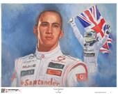 Lewis Hamilton portrait painting