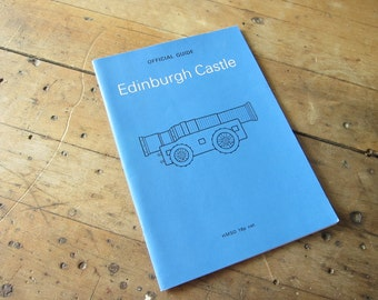 Vintage 1970s Travel Booklet Edinburgh Castle by J S Richardson