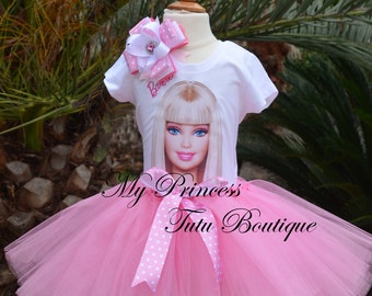 Barbie Tutu Set Barbie Tutu Dress Girls Tutus Barbie Theme Tutus Barbie Birthday Party