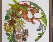 Embroidered Wildlife Scene -Bambi & Friends