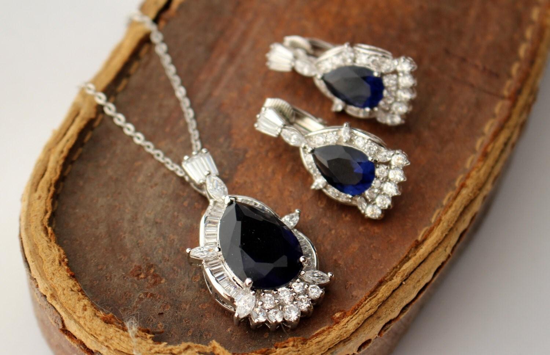 nolan miller demi parure necklace earrings cz by baumlove