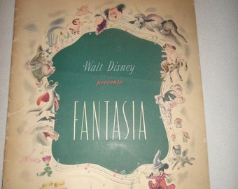 Walt-Disney-Presents-Fantasia-Souvenir-Program 1940 in Technicolor and Fantasound