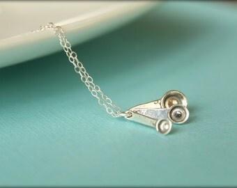 Measuring Spoons Necklace in Sterling Silver