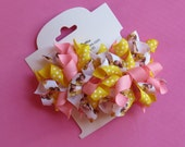 Hair Bow Set - Small Belle (Beauty and the Beast) Korkers
