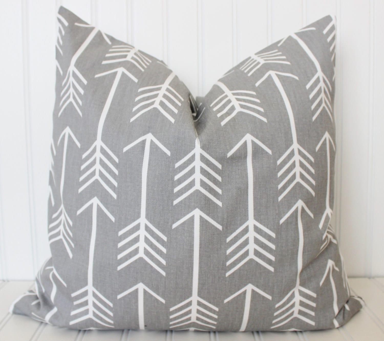 Arrow Pillow Gray Arrow Pillow Decorative Throw Pillow