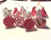 64 American Girl Kiss Stickers - American Girl Doll Party Favor, AG Doll Favor, American Girl Doll Treat Bag, AG, Doll Party,Grace, Isabelle