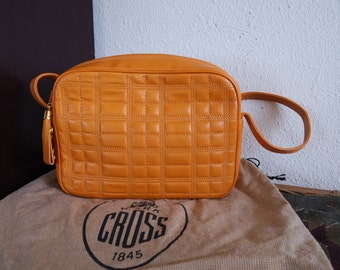 Mark Cross Yellow Orange / Mango Quilted Shoulder Bag