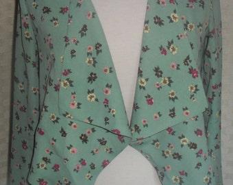 Ireland Vintage Green Floral Waterfall jacket