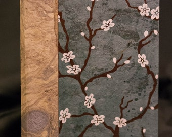 Cherry Blossom Journal - Blue and Silver