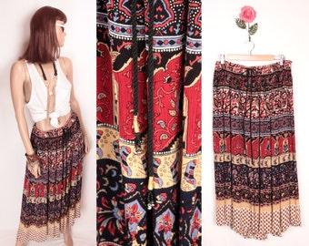 Indian gauze skirt // drawstring