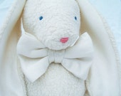 Organic, Easter Sunday, Bunny, Properly Dressed in Silk Bow Tie, GOTS Certified Organic Cotton, Alpaca Stuffing