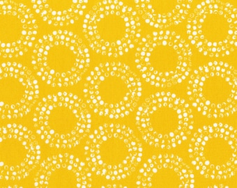 Cloud9 Organic Fabrics - Shape of Spring - Full Circle Sunshine 1/2 YD