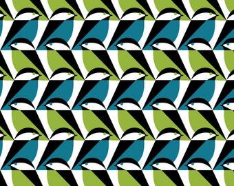 Cloud9 Organic Fabrics - Mixteca - Sparro Azul 1/2 YD
