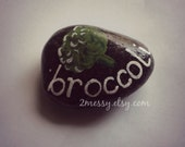 Veggie Garden Rocks - Broccoli