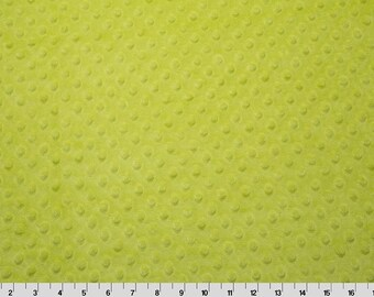 Apple Green Dimple Minky From Shannon Fabrics - Choose Your Cut