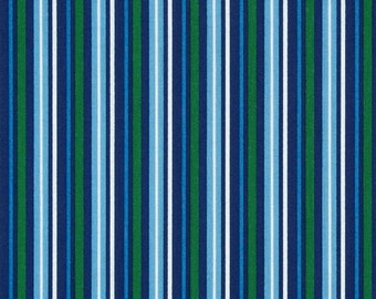 Navy Newport Nautical Stripes from Quilting Treasures