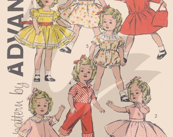 "Reproduction Vintage Shirley Temple Dolls Clothes 17"" Sewing Pattern A9603 PDF"