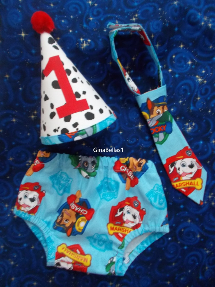 Paw Patrol Birthday Cake Smash Outfit Fireman By Ginabellas1