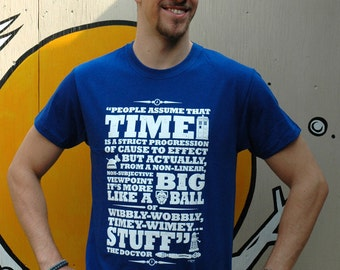 Doctor Who 'Time' Screen printed T Shirt