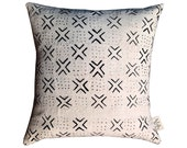 White Mudcloth Pillow Covers