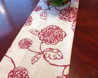 Table Runner - Rose Floral Table Runner Rose Pattern Table Runner Wedding Table Runners Select a Size