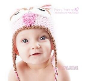 Crochet PATTERN - Crochet Owl Hat Pattern - Crochet Hat Pattern - Crochet Baby Hat Pattern - Baby, Toddler, Kids, Adult Sizes - PDF 257
