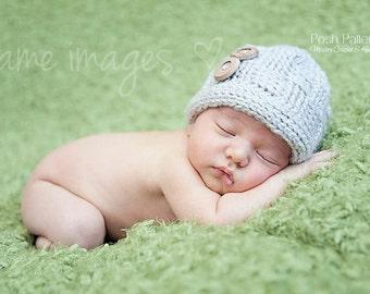 Crochet PATTERN - Easy Crochet Pattern - Crochet Hat Pattern - Crochet Patterns for Men - Baby Crochet Pattern - Includes 5 Sizes - PDF 198