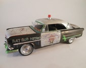 Scale Model RatRod Police Car in Black and White by Classicwrecks