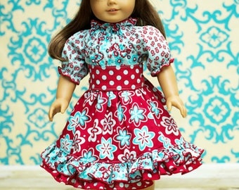 Demi's Ruffled Peasant Dress PDF Pattern Doll Sizes