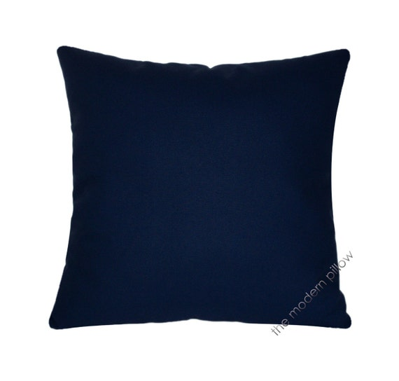 Blue Throw Pillow 20x20 : Deep Navy Blue Solid Decorative Throw Pillow Cover / Pillow