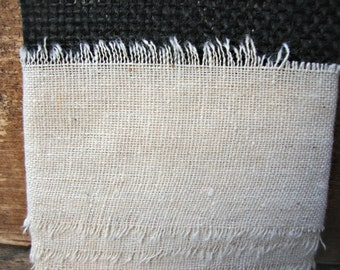 German Country Jute Flax Natural Osnaberg Ribbon Trim