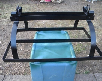 great shape vintage 1960s metal steel HANGING KITCHEN pot pan RACK holder