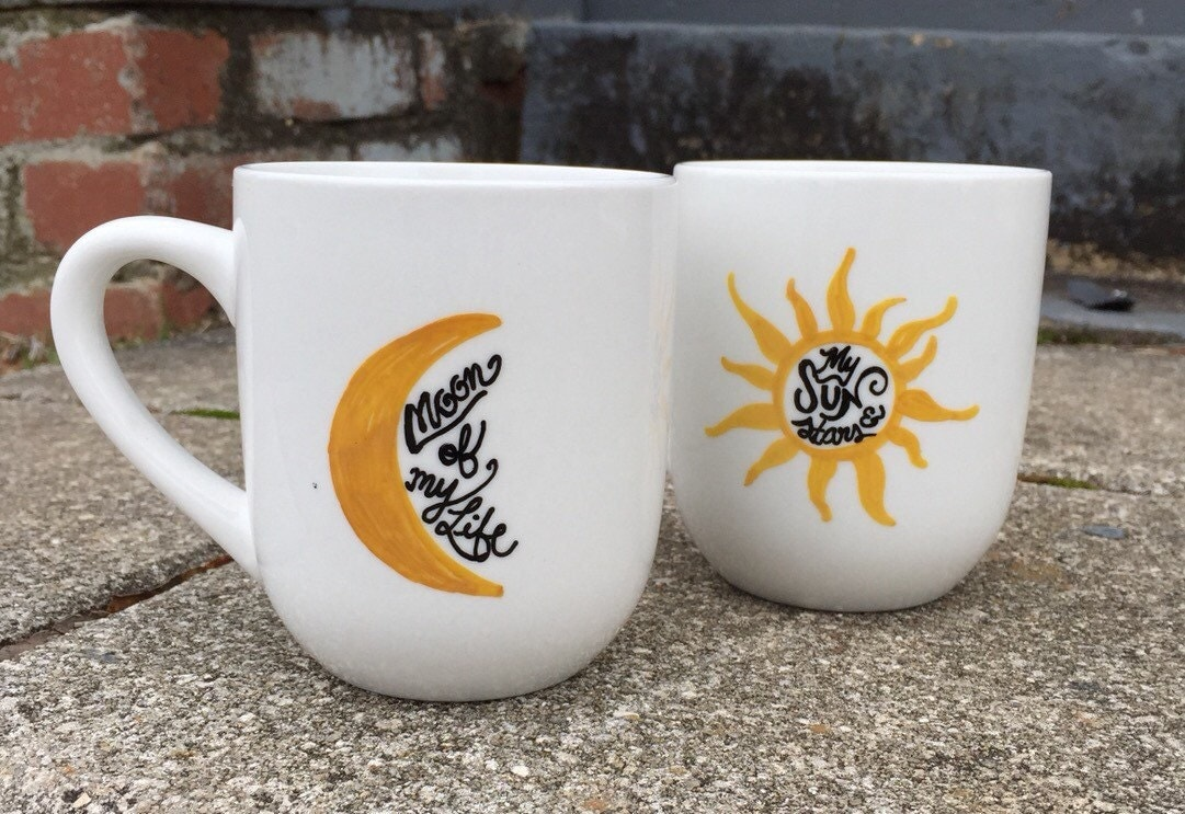 coffee mug coffee cup his and hers set my sun by. Black Bedroom Furniture Sets. Home Design Ideas
