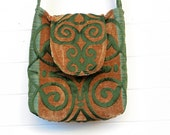 Boho Bag Purse Cut Chenille Handbag