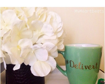 Delivert (#Delivert) Sea-green Coffee Mug